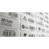 etiqueta de alumínio para patrimônio
