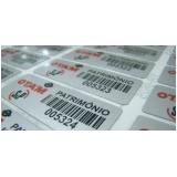 venda de etiqueta de patrimônio em alumínio Itapevi